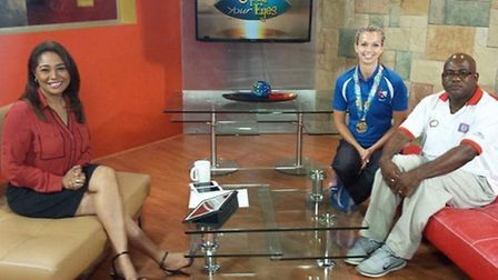 Katy Sealy appeared on Belize's biggest breakfast TV show on her last visit.