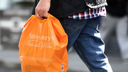 Like-for-like sales at Sainsbury's fell once a gain in the second quarter. Photo: Lauren Hurley/PA