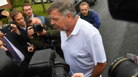 Sam Allardyce leave his home in Bolton. Photo: Dave Howarth/PA Wire