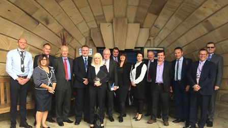 Suffolk Business Ambassadors on their tour of the Port of Ipswich.