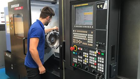 The new turning centre at Maycast-Nokes, which will increase production at the company.