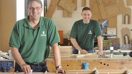 Philip and Richard Hall of Hall Brothers of Colchester Builder and Joiners are celebrating 50 years