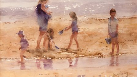 """Blythburgh based artist Mary Gundry's painting """"August Morning"""""""