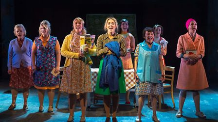 Made in Dagenham which opens next week at the New Wolsey Theatre in Ipswich. L-R - Wendy Morgan, Eli