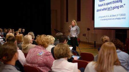 A mindfulness and well-being confernce was held at Framlingham earlier in the year.
