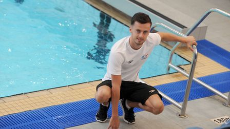 GB Paralympic swimmer, Ryan Crouch, is pictured at Crown Pools in Ipswich.
