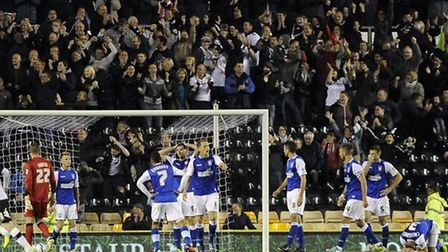 The Ipswich players are left stunned by Derby's equaliser