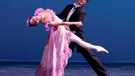 Gary Avis and Mara Galeazzi performing the final act pas de deux from The Merry Widow at Gary Avis a