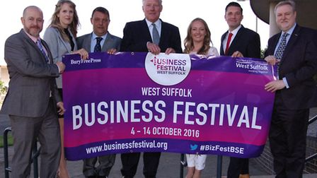 From left, Phil Stittle, director of businesses development at West Suffolk College, Laura Welham-Ha