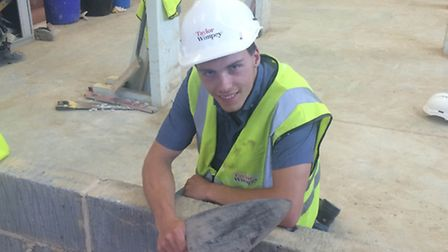 Ryan Atkins, one of the participants in a programme run by the St Edmunds Society under a previous r