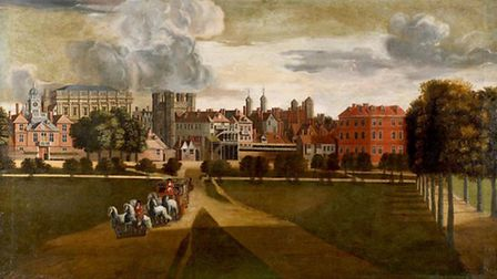 The Old Palace of Whitehall by Hendrik Danckerts, painted in the 1600s