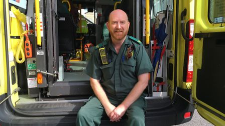 When not dressed as a Tudor... Philip Roberts is an ambuance technician with the East Of England Amb