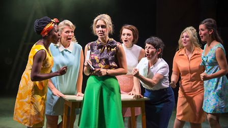 Made in Dagenham which opens next week at the New Wolsey Theatre in Ipswich. L-R Martina Isibor, Sar