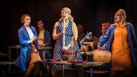 Made in Dagenham which opens next week at the New Wolsey Theatre in Ipswich. L-R Sioned Saunders, So
