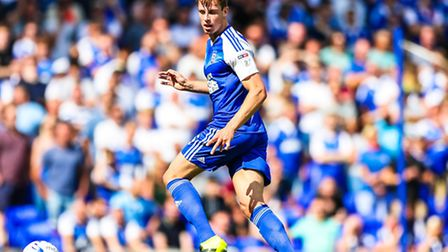 Adam Webster in action during the Ipswich Town v Barnsley (Championship) match at Portman Road, Ipsw