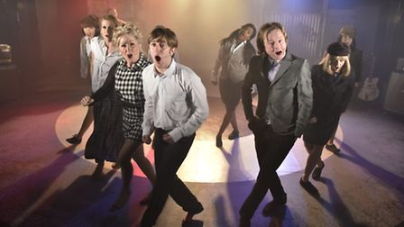 The cast of All or Nothing recreating the look and the sound of 1960s Mod band The Small Faces at th