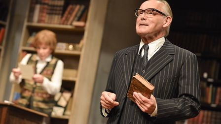 Stefanie Powers as Helene Hanff and Clive Francis as Frank Doel in 84 Charing Cross Road. Photo: Rob