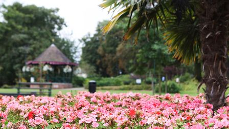 Anglia in Bloom winners Halstead . Photo of the Public Gardens which won a gold award in the parks c