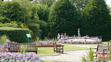 Crescent Gardens in Frinton, which collected a silver gilt award in the small parks category of the