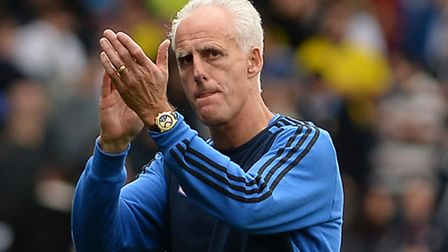 Mick McCarthy after the final whistle at Leeds
