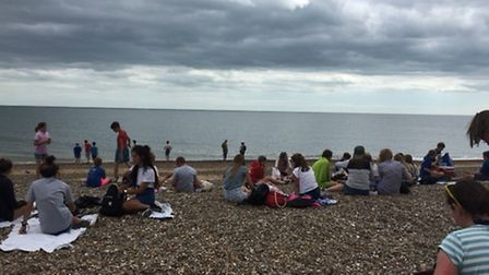 All the juniors building up to meet the jellyfish population!