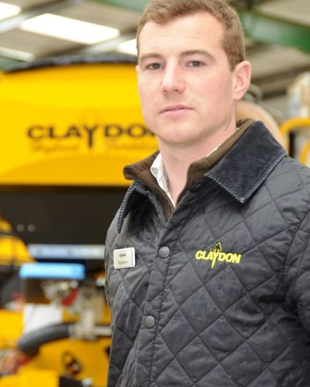 Claydon Drills territory manager Taig Norman.