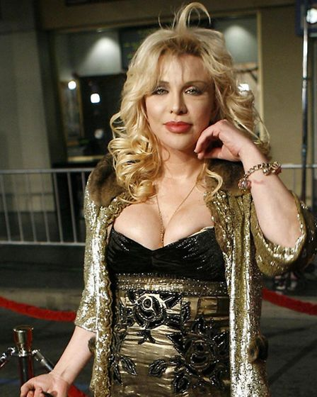 Musician Courtney Love, who once went on a blind date with Andy Kershaw. Photo: AP Photo/Matt Sayles