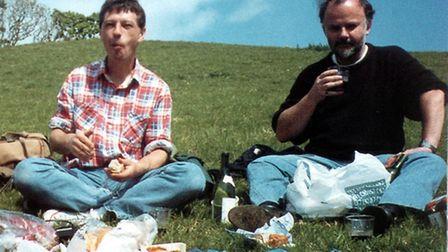 John Peel feature Andy Kershaw and John Peel at the Isle of Man TT Races. Photo: Contributed