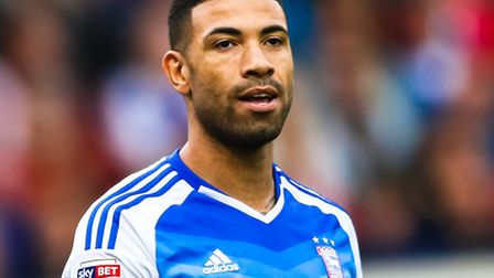 Leon Best pictured during the Ipswich Town v Aston Villa match. Picture: Steve Waller