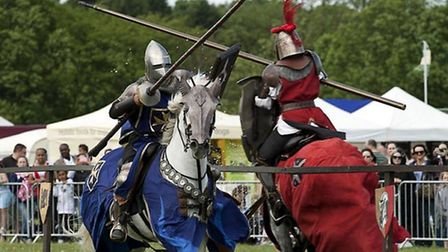 Watching exciting jousting tournaments