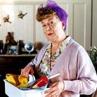Hilda Ogden in Coronation Street, played by actress Jean Alexander, who has died aged 90. Photo: PA