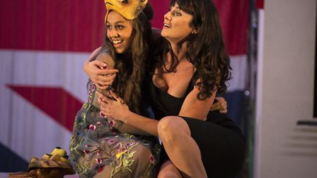 Robyn Cara and Danielle Flett are Hero and Beatrice. The Mercury Theatre's production of Much Ado Ab