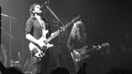 The late Lemmy Kilmister with Motorhead at the Gaumont in October 1980
