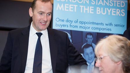 Stansted Airport chief executive Andrew Cowan at the Meet the Buyers event.