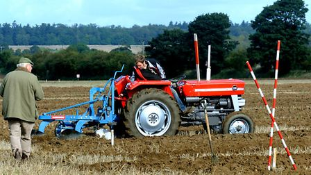 The ploughing match at Fornham St Martin