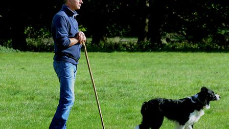 EASS Shepherd Neal Rouse in action at Ickworth Park