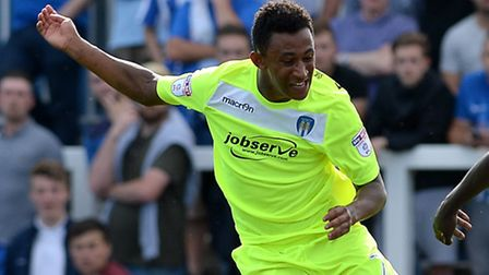 Dion Sembie-Ferris, who scored his first senior goal for Colchester United tonight