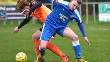 Tom Winter scored for Leiston at Westfields