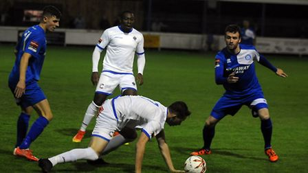 Bury Town entertaining Romford at Ram Meadow Ryan Jolland and Ollie Canfer
