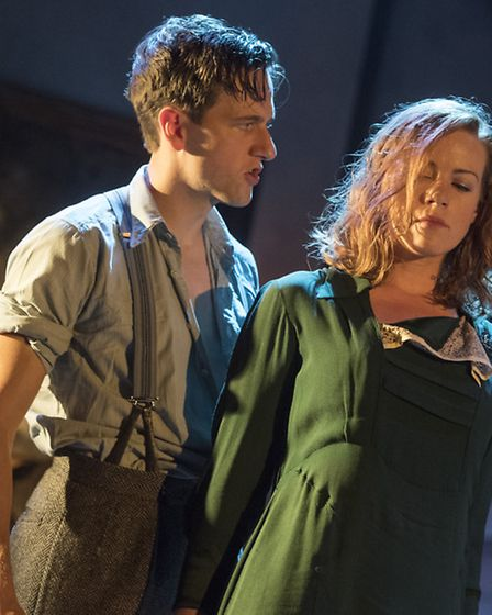 Will Featherstone as Dan and Niamh McGrady as Olivia in Night Must Fall. Photo: Alastair Muir