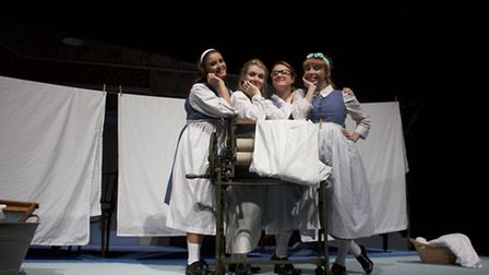 The cast of Be My Baby, at the Theatre Royal, Bury St Edmunds, October 17-22