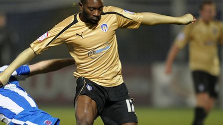 Jabo Ibehre, who scored against his old club Colchester in Carlisle's 2-0 home win this afternoon