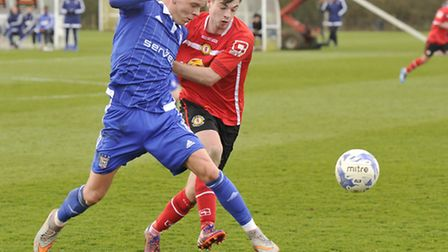 Ipswich's Monty Patterson in youth team action