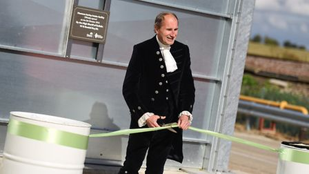 Official Opening of Grain Handling and Storage facility at Muntons in Stowmarket. Pictured is Willia