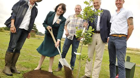 There are lots of good things going on in Suffolk. Here, Lady Euston plants a tree to mark the openi