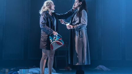 Kerry Ellis and Victoria Hamilton-Barritt in Murder Ballad, a new no interval musical currently play
