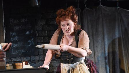 Sophie-Louise Dann as Mrs Lovett in the new Colchester Mercury Theatre production of Sweeney Todd