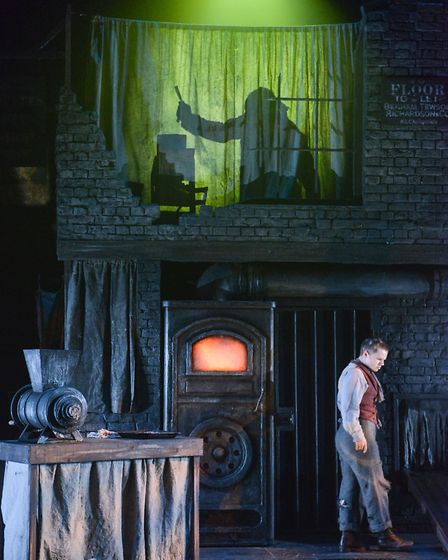 Ryan Heenan as Tobias Ragg in the new Colchester Mercury Theatre production of Sweeney Todd
