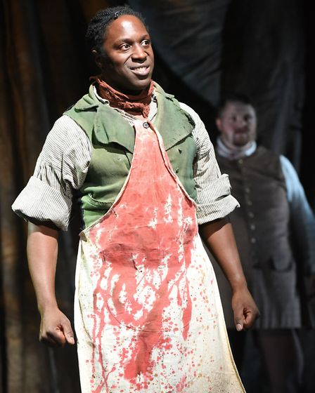 Hugh Maynard as Sweeney Todd in the new Colchester Mercury Theatre production