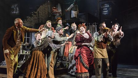 The cast of the new Colchester Mercury Theatre production of Sweeney Todd